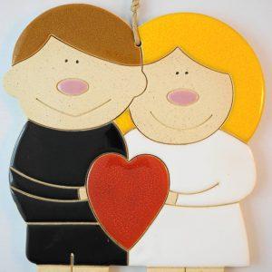 couple in love, h.18,5cm