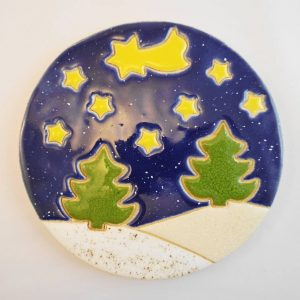 Christmas hot dish stand,h.14cm