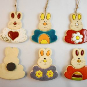magnet/small pendant - Easter rabbit