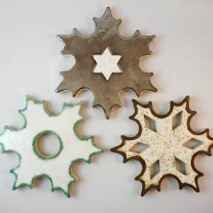 snowflake C hot dish stand h.16,5cm