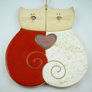 lover cats, h.18,5cm