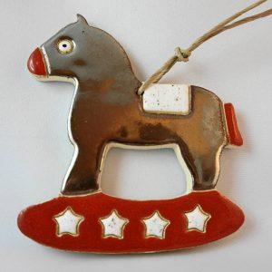 rocking horse,h.11,5cm