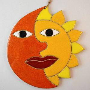sun/moon, h.19cm