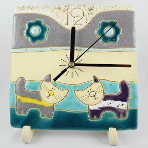kittens clock 20/20cm