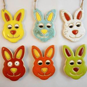 magnet/small pendant - rabbit's head