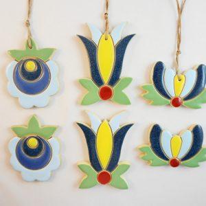 magnet/pendant Kashubian flower